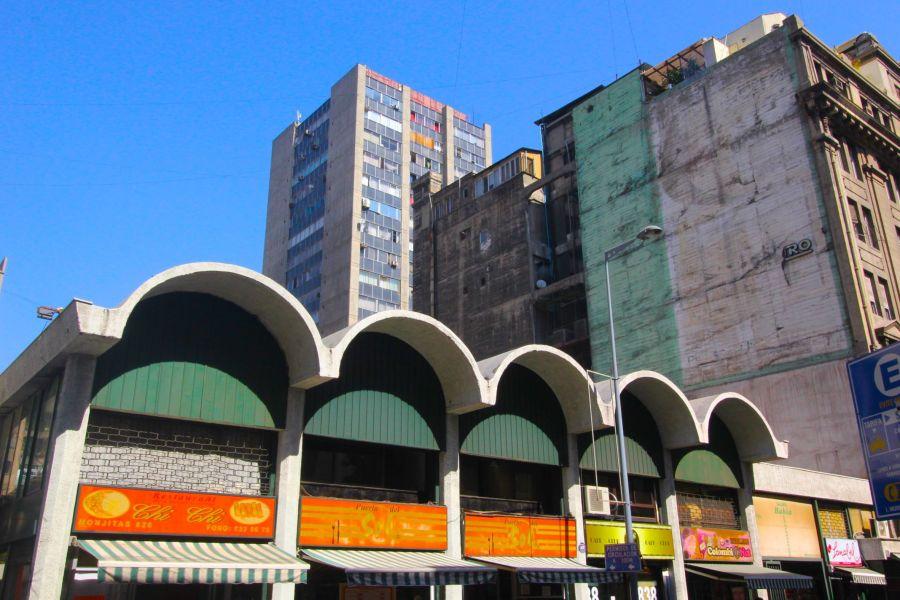 santiago chile plaza de armas buildings mix
