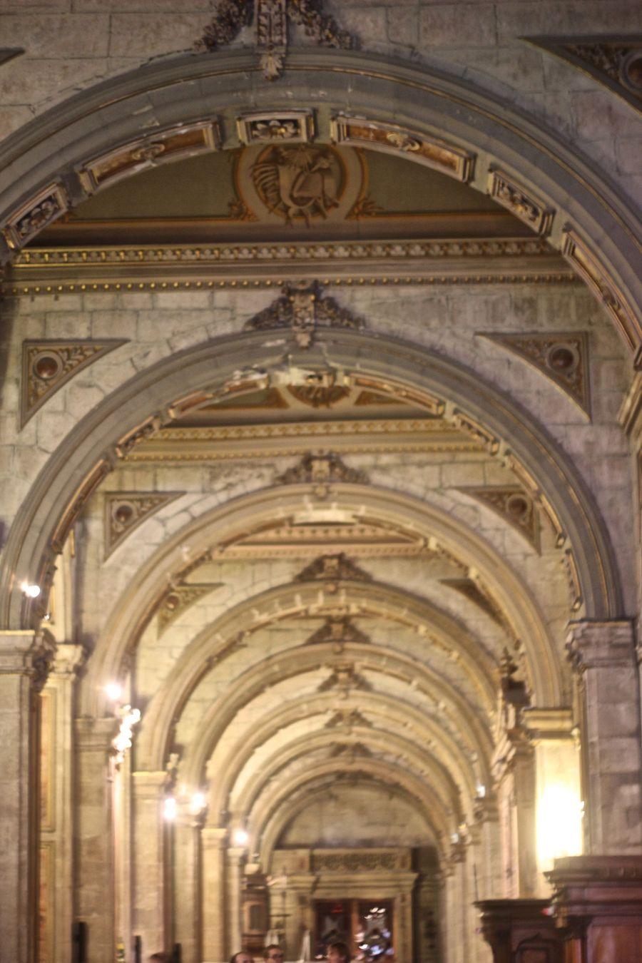santiago chile plaza de armas cathedral arches
