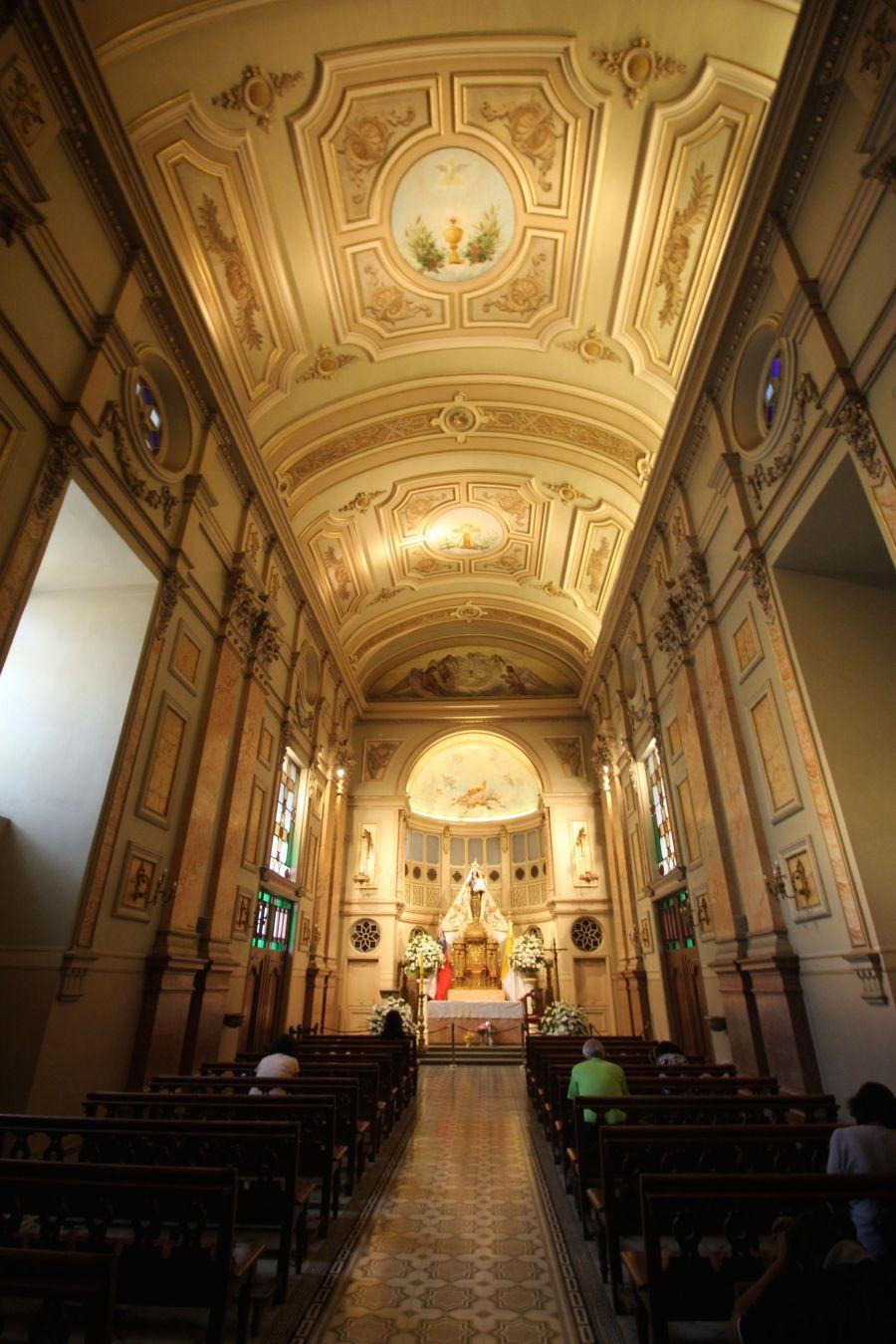 santiago chile plaza de armas cathedral chapel