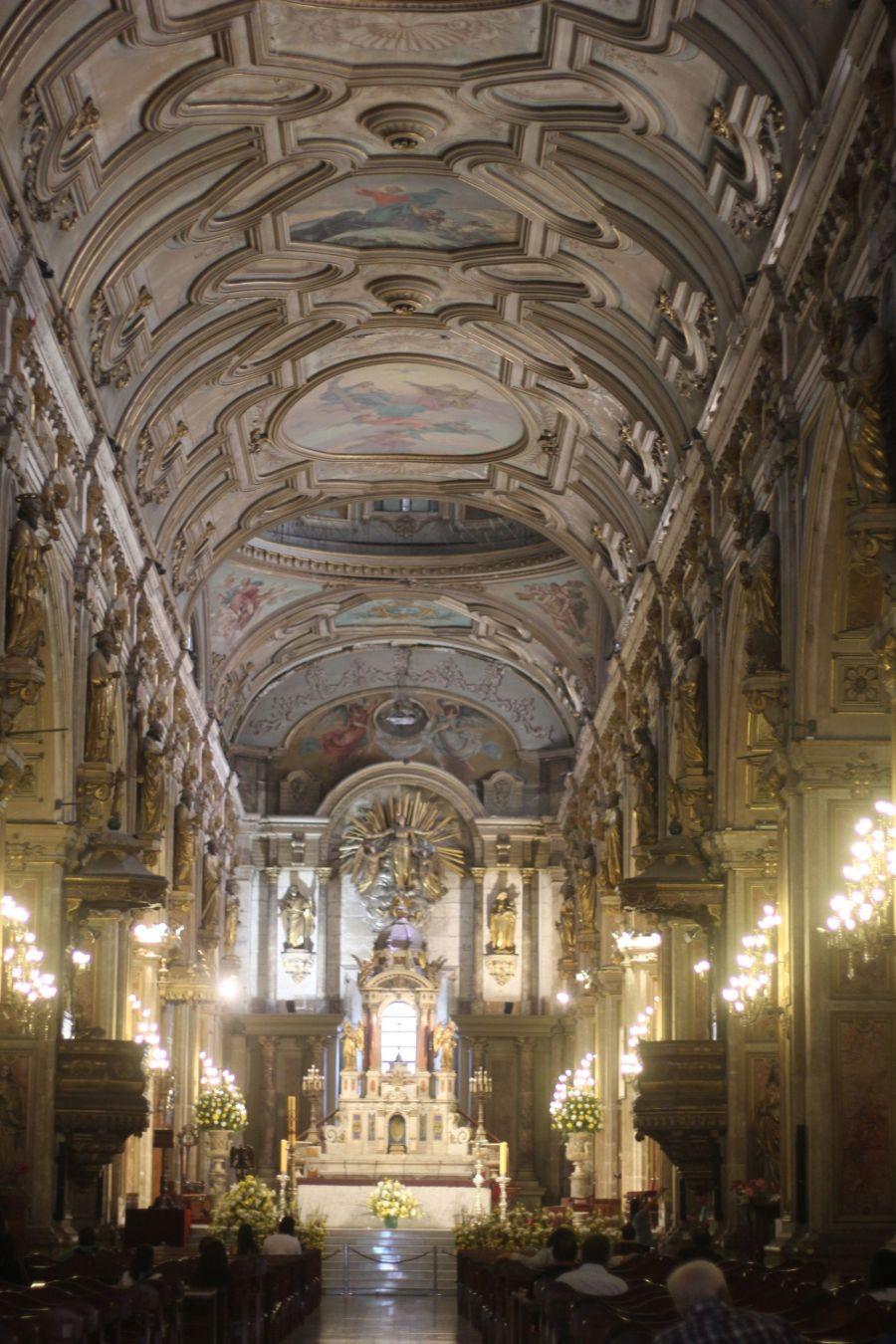 santiago chile plaza de armas cathedral