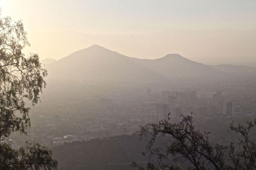 santiago chile san cristobal hill top view 2