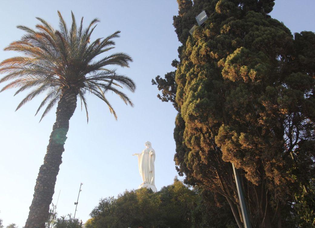 santiago chile san cristobal hill virgin