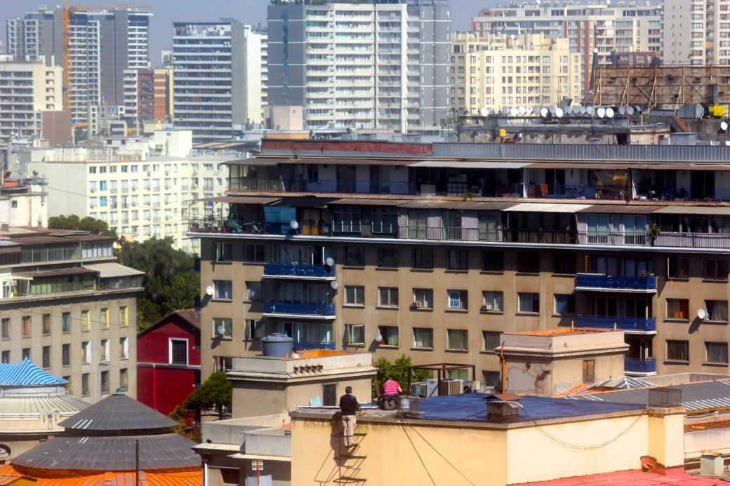 santiago chile santa lucia hill hill top view buildings 3