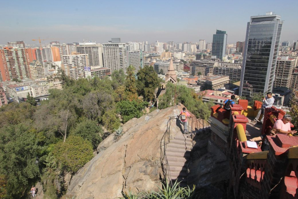 santiago chile santa lucia hill hill top view buildings 4