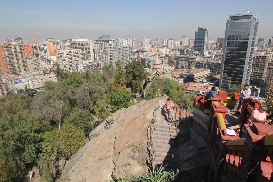 santiago chile santa lucia hill hill top view buildings 4