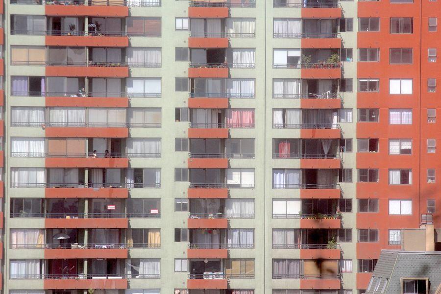 santiago chile santa lucia hill hill top view buildings apartment building