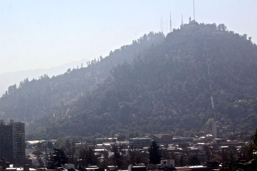 santiago chile santa lucia hill hill top view san cristobal