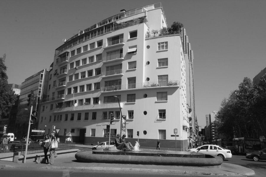 santiago chile santa lucia hill neighborhood building
