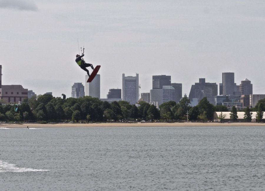 boston castle island kite surfing 2