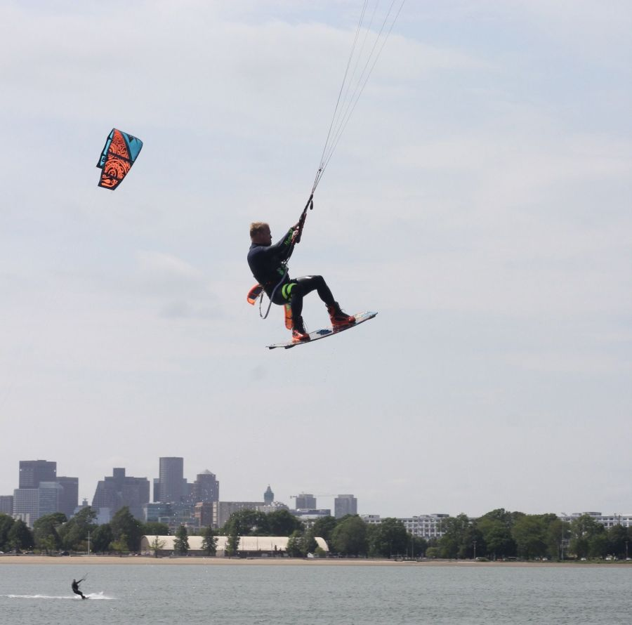 boston castle island kite surfing 7