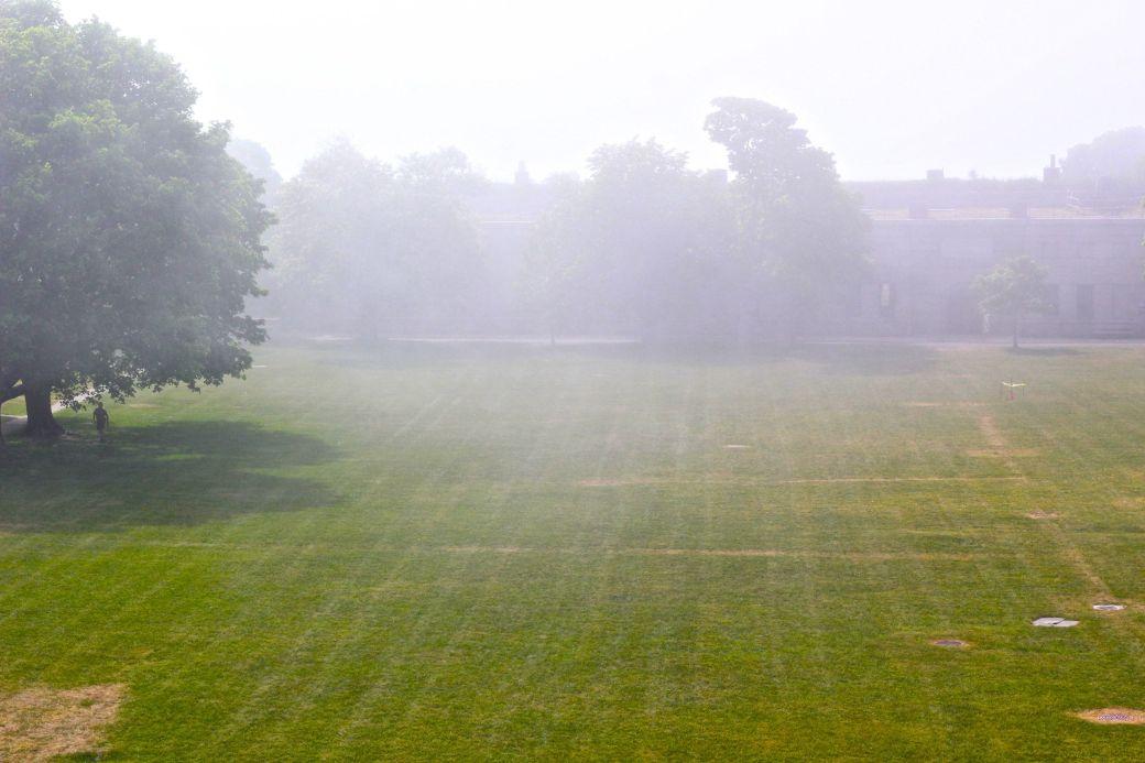 boston harbor island george's island fog field 6