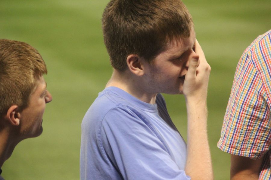 boston fenway park red sox new york yankee boston red sox game july 11 2015 man hearing game ball man after getting hit in the face with red sox game ball