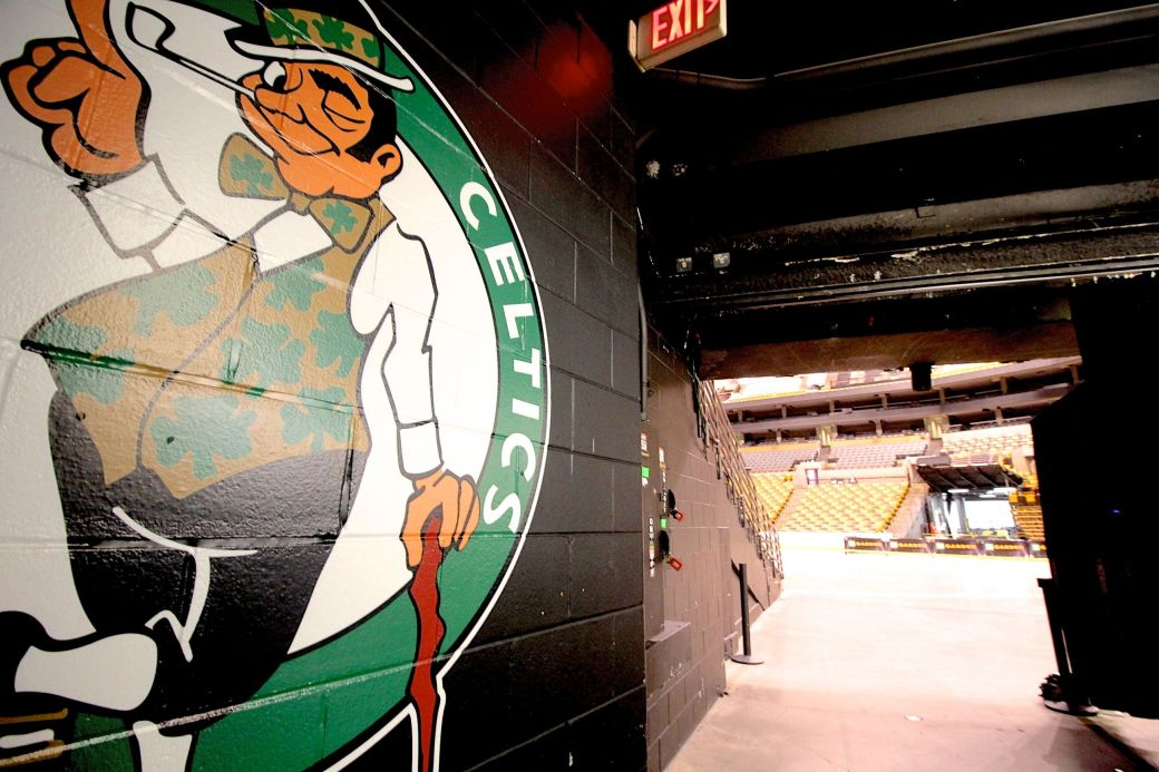 boston td garden celtics entrance to the td garden floor