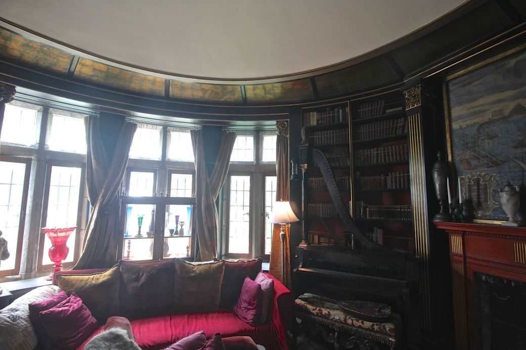gloucester hammond castle interior circular library 2