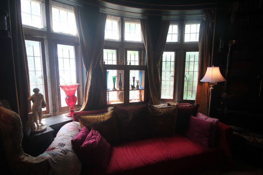 gloucester hammond castle interior circular library 4