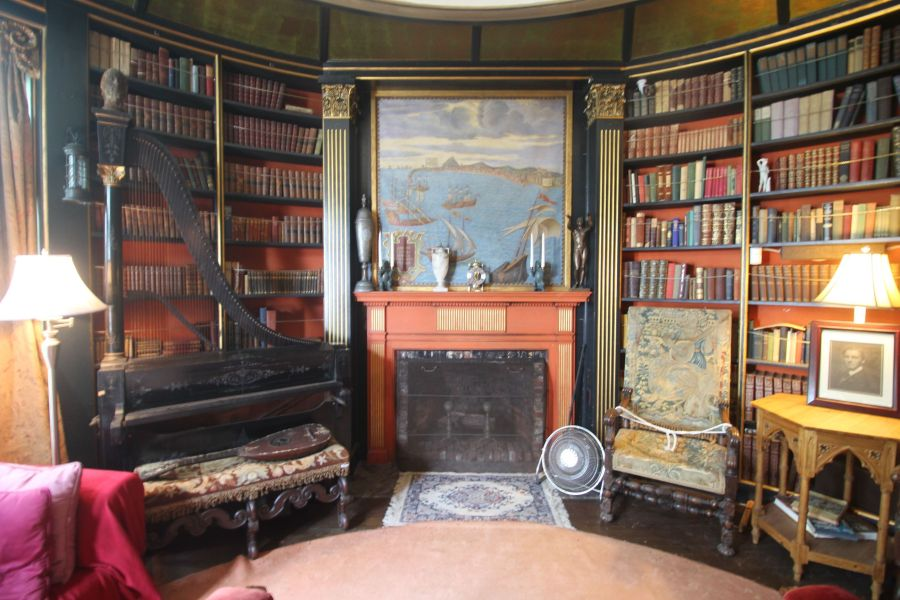 gloucester hammond castle interior circular library 5