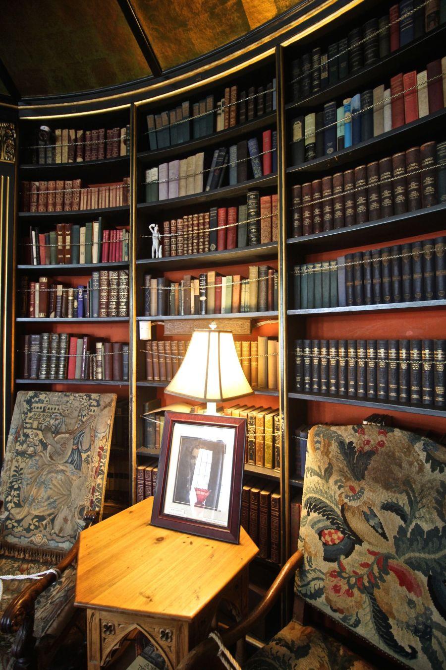 gloucester hammond castle interior circular library