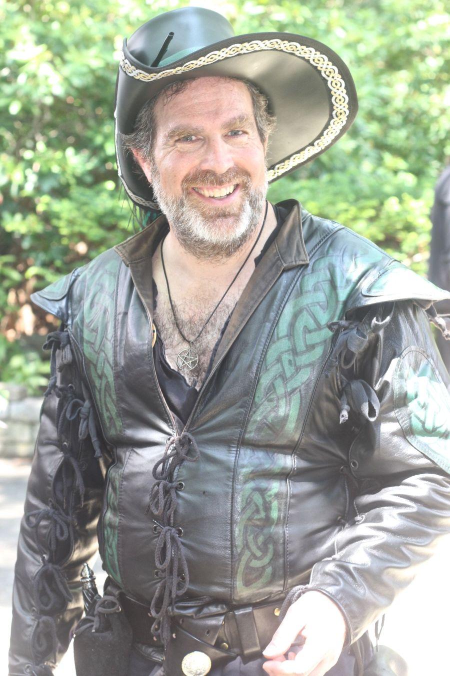 gloucester hammond castle renaissance fair man in leather outfit