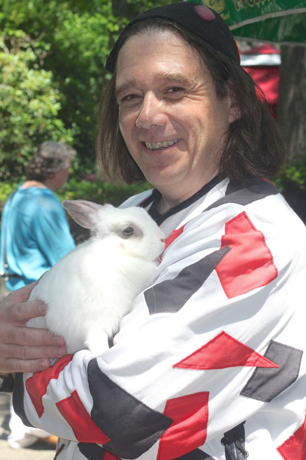 gloucester hammond castle renaissance fair man with rabbit