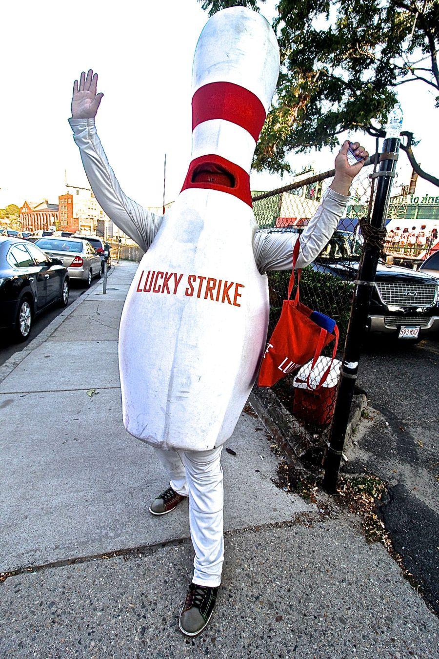 boston fenway park lucky strike bowling pin