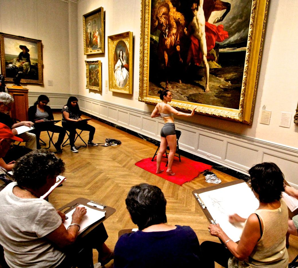 boston museum of fine arts european gallery life drawing model pose woman