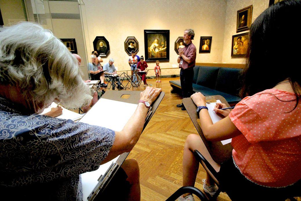 boston museum of fine arts european gallery man posing life drawing class