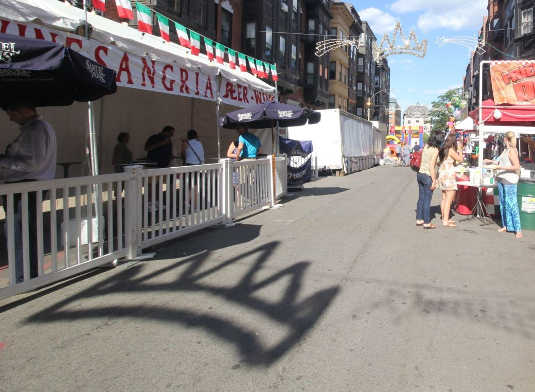 boston north end saint agrippina festival crown shadow 2