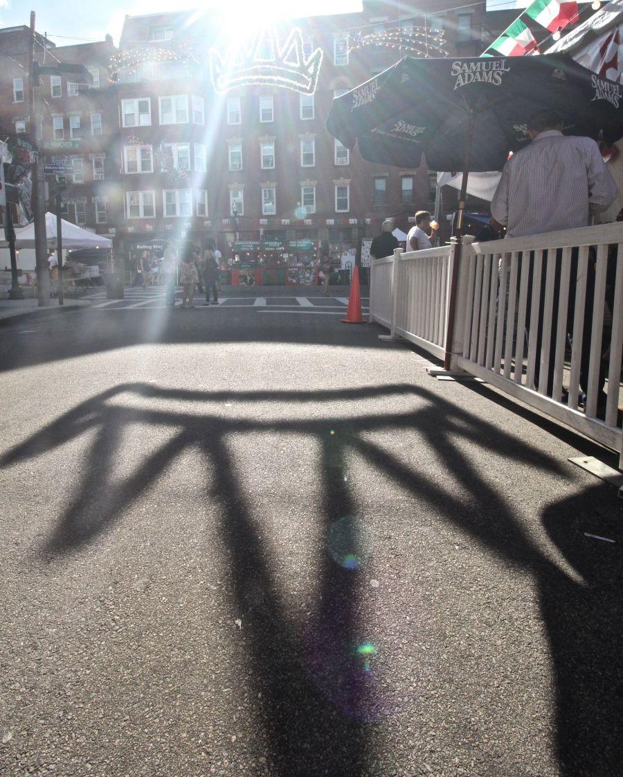 boston north end saint agrippina festival crown shadow 3