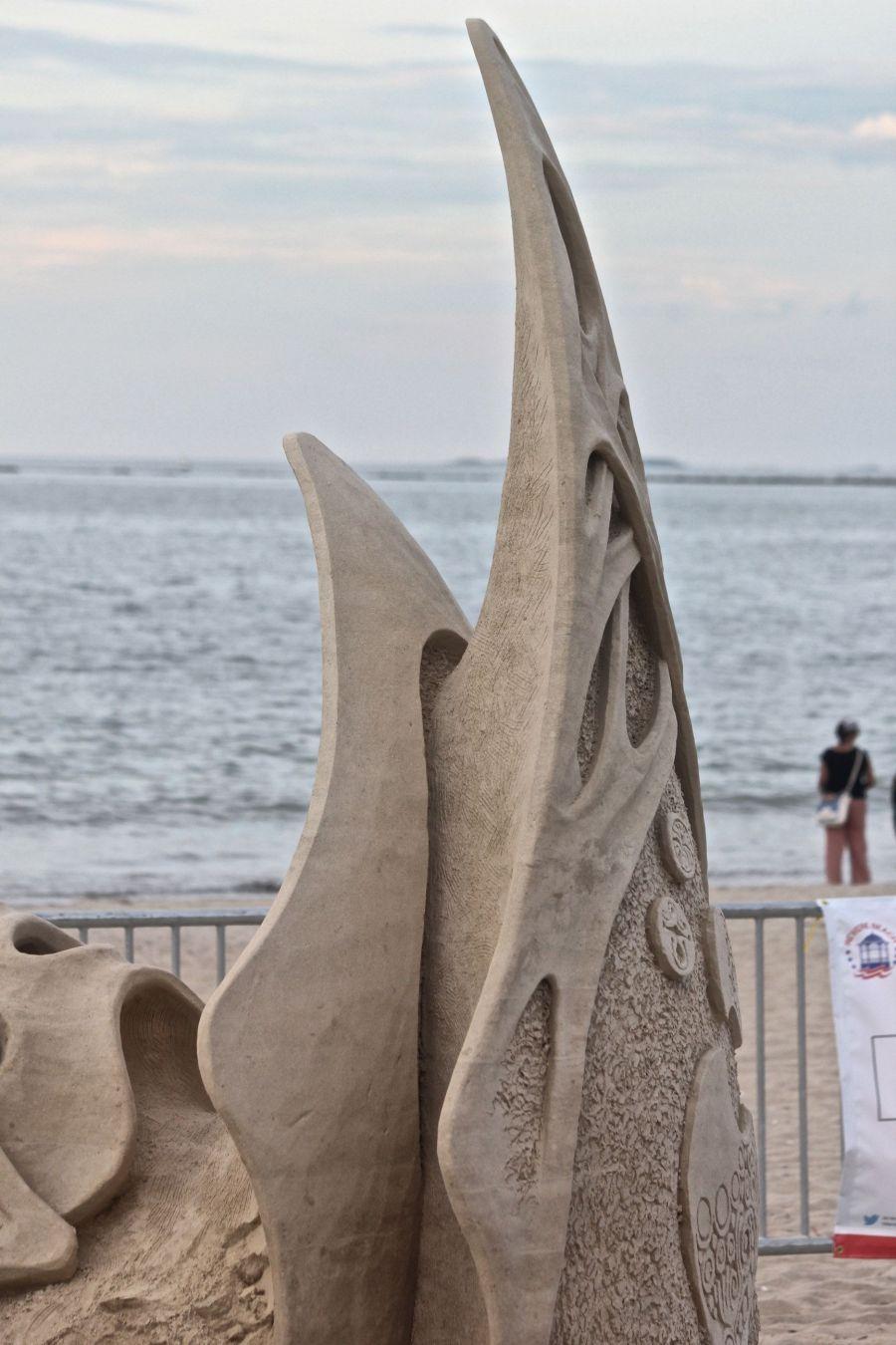 boston revere beach sand sculpture festival curved sculpture