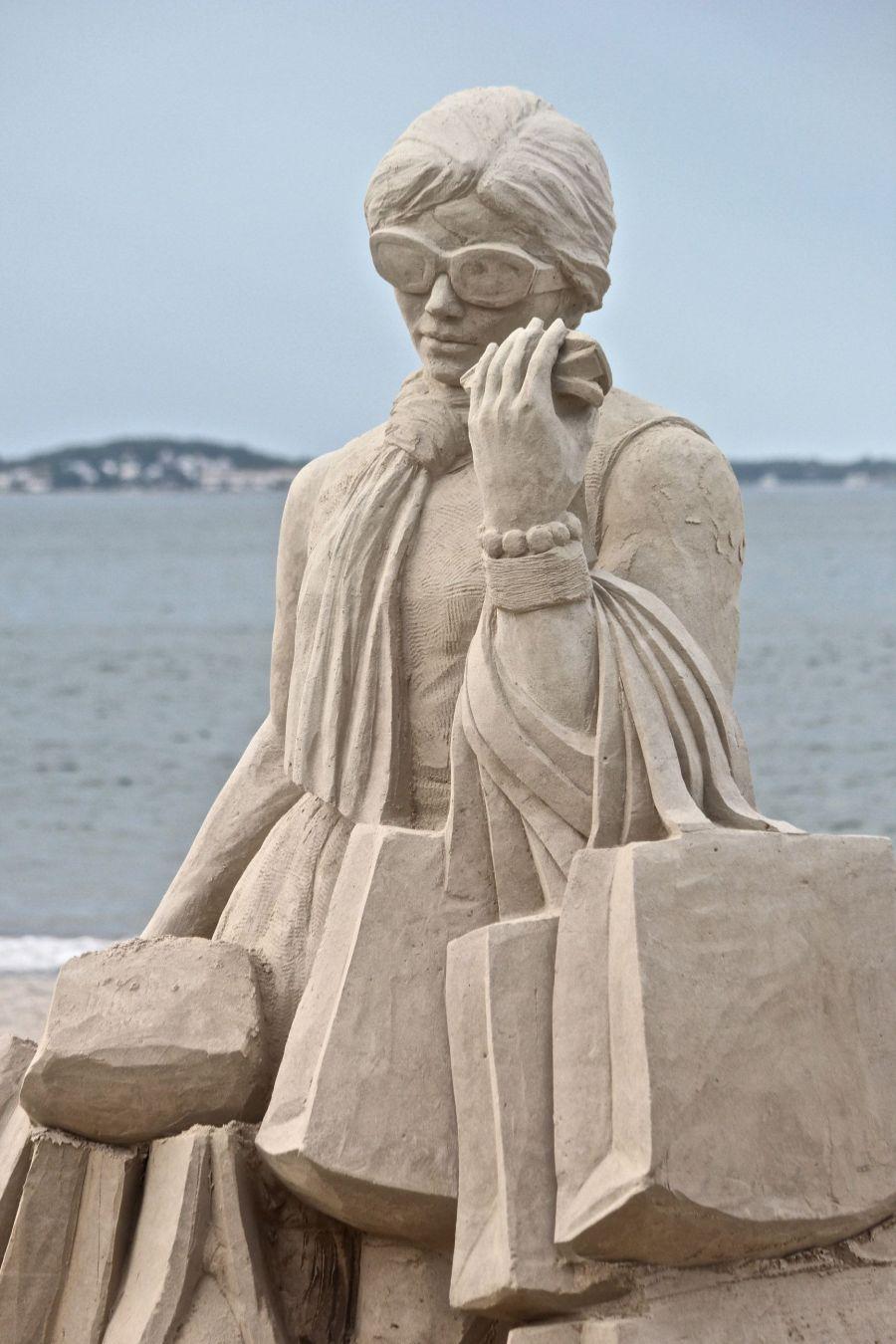 boston revere beach sand sculpture festival happy shopping