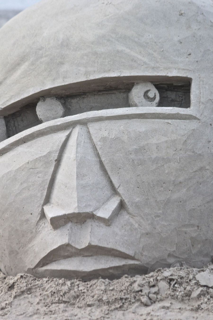 boston revere beach sand sculpture festival mask head