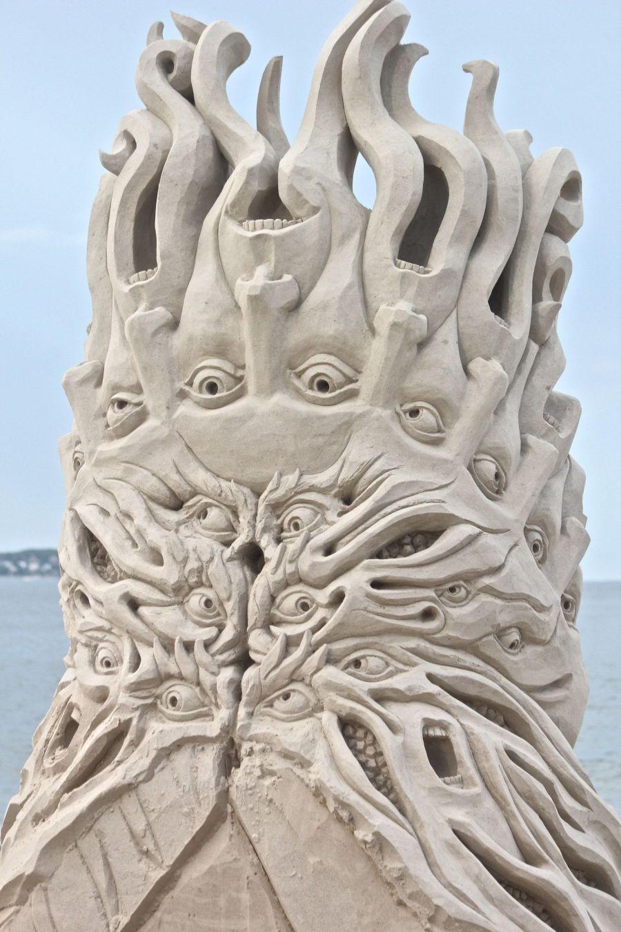 boston revere beach sand sculpture festival medusa