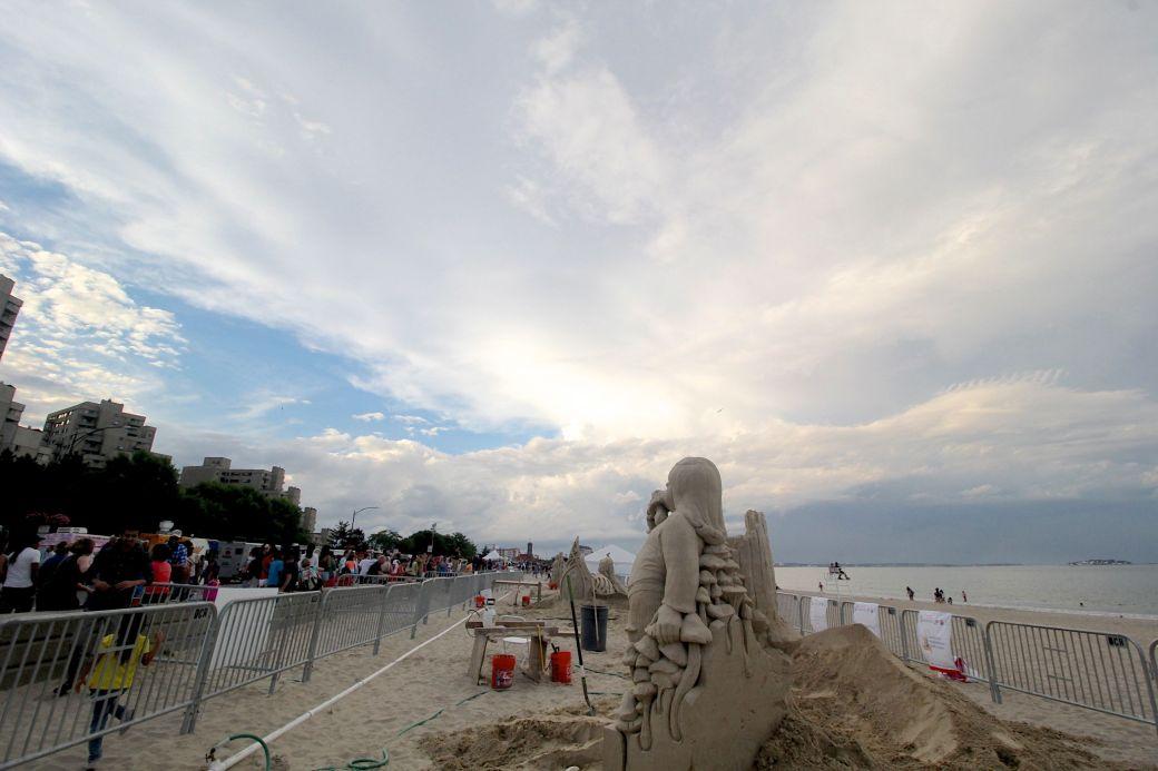 boston revere beach sand sculpture festival sand sculpture clouds
