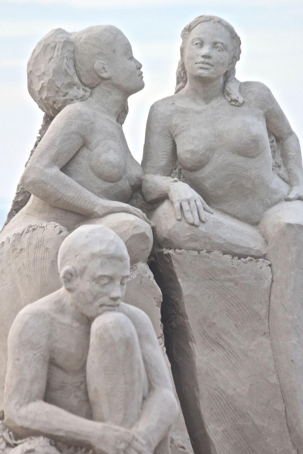 boston revere beach sand sculpture festival sand sculpture people