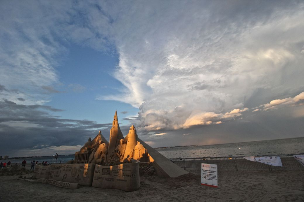 boston revere beach sand sculpture festival sunset sand sculpture