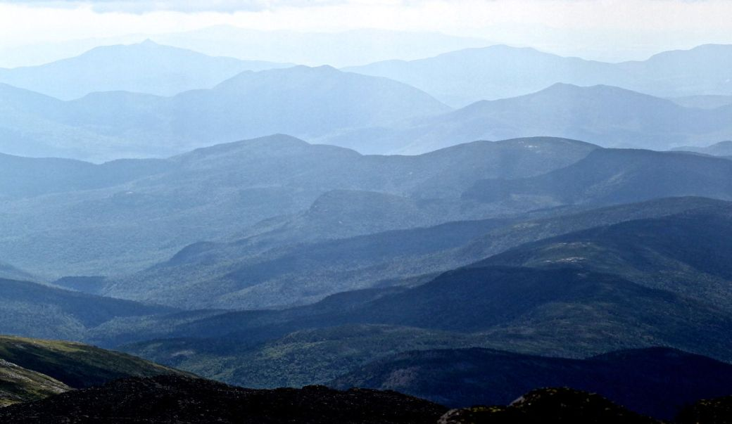 new hampshire presidential mountain range driving up mount washington 12 light