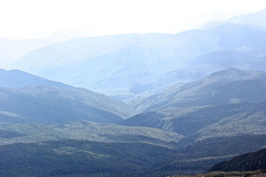 new hampshire presidential mountain range driving up mount washington 17
