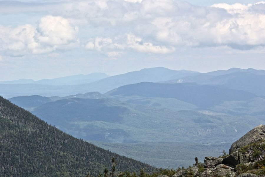 new hampshire presidential mountain range driving up mount washington 2