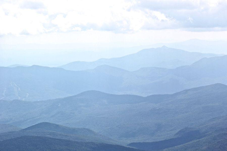 new hampshire presidential mountain range driving up mount washington 20