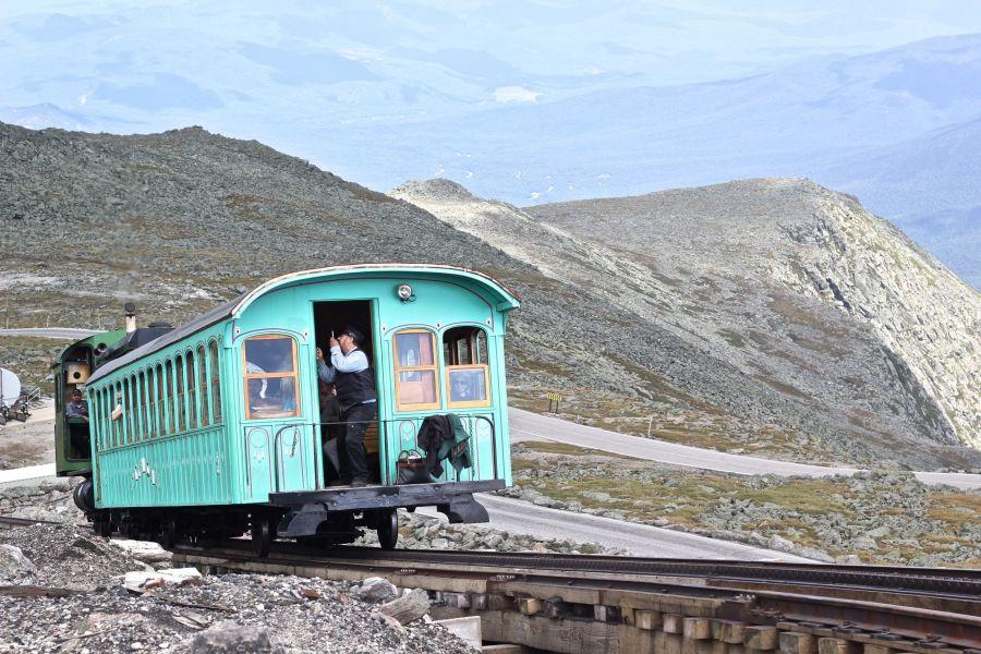 new hampshire presidential mountain range driving up mount washington 23 train