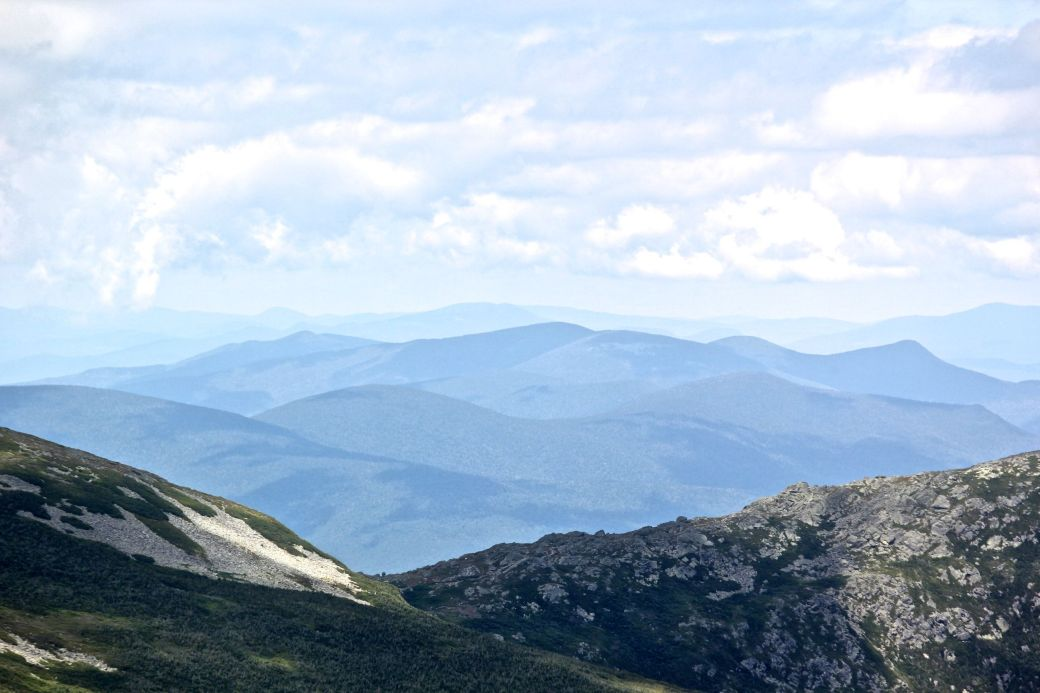 new hampshire presidential mountain range driving up mount washington 9