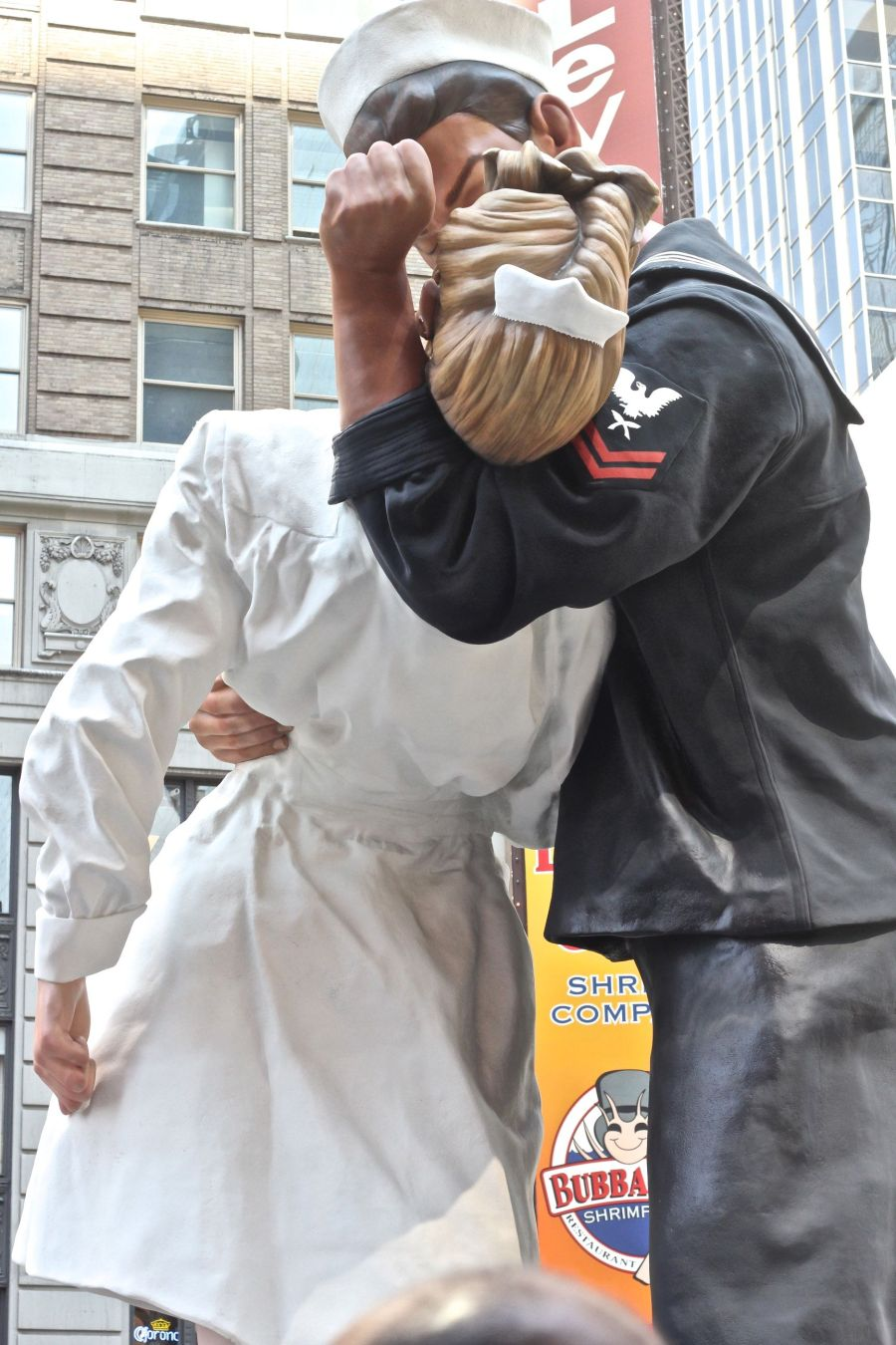 new york city times square unconditional surrender statue side view