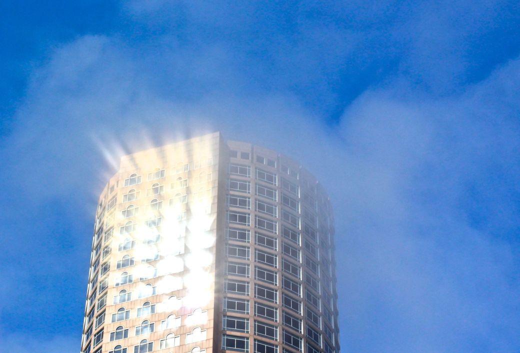 boston greeway building light fog