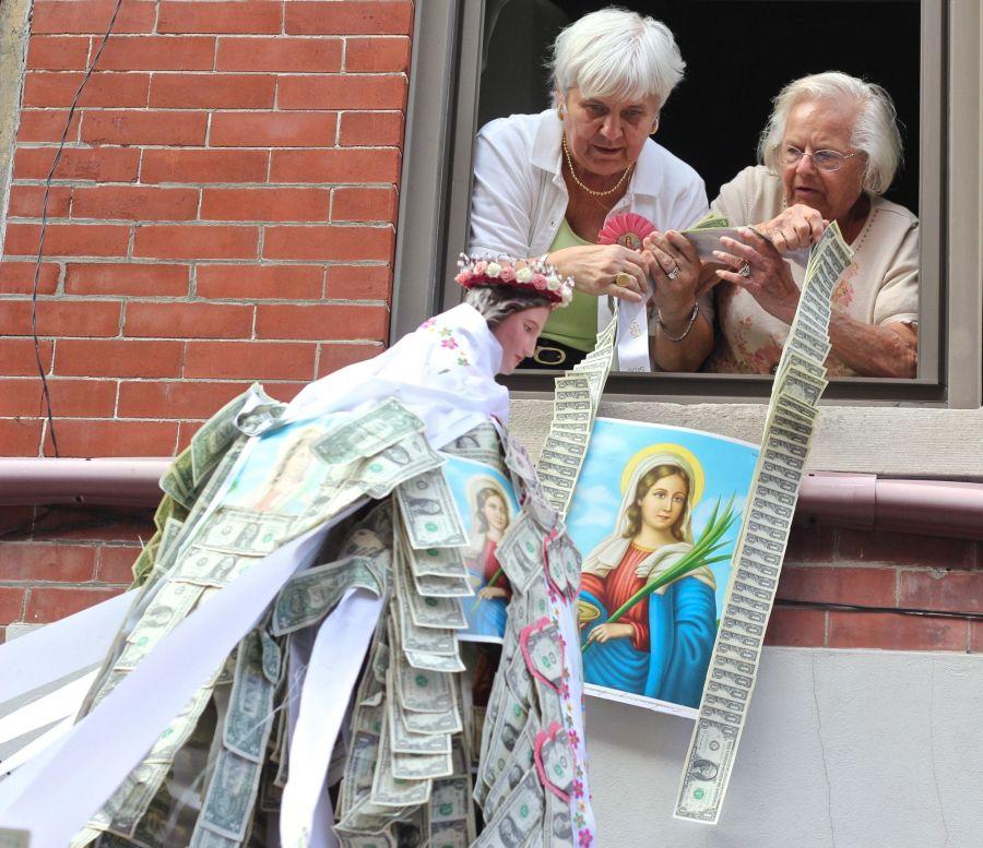 boston north end santa lucia festival august 31 1