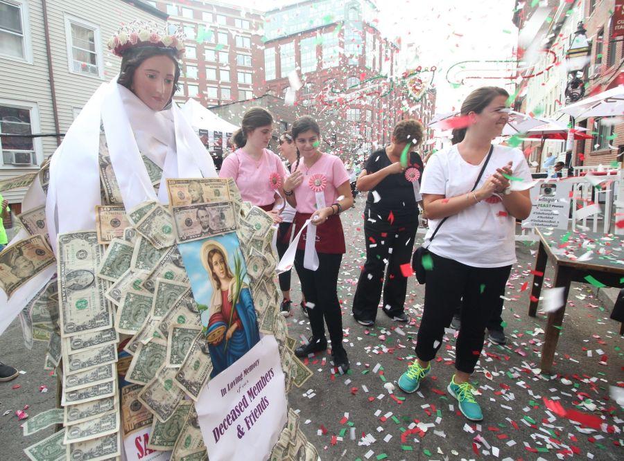 boston north end santa lucia festival august 31 11