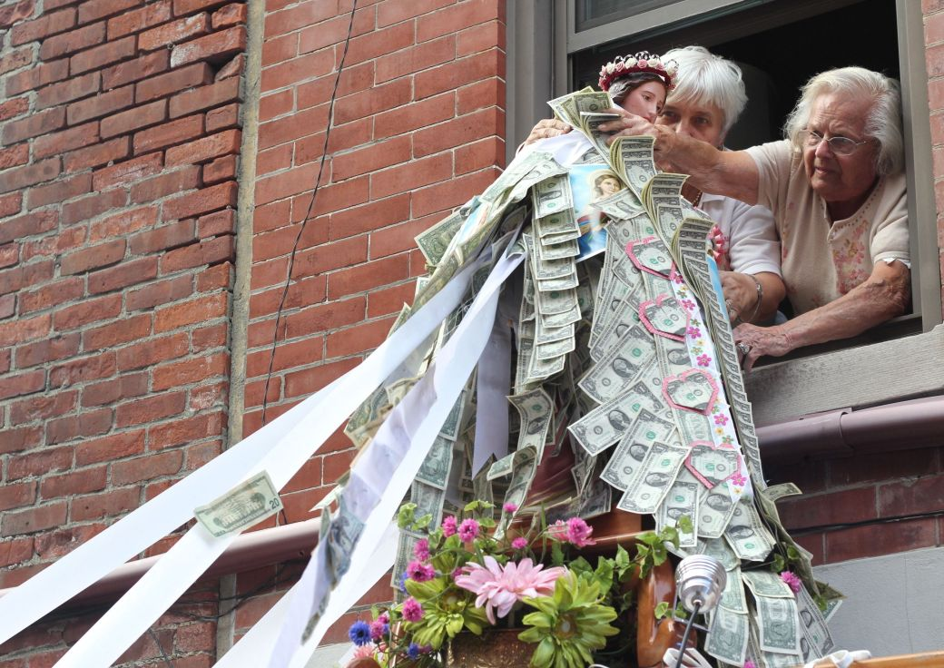 boston north end santa lucia festival august 31 2