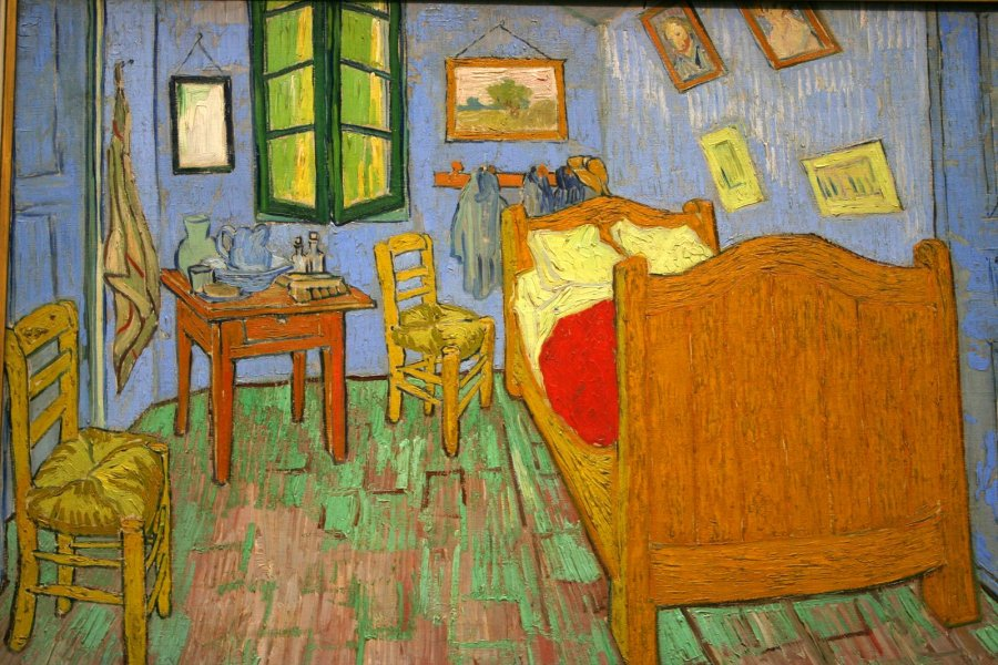 Vincent van Gogh.  The Bedroom, 1889.  Oil on canvas.