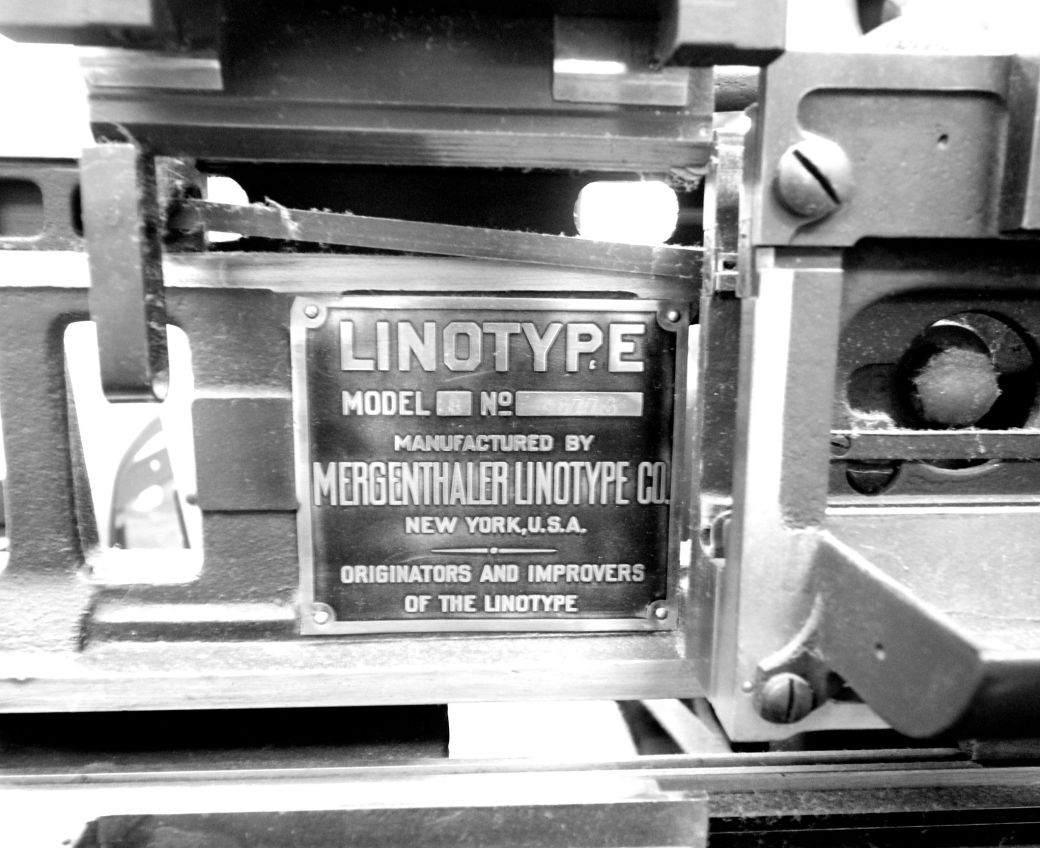 boston globe offices linotype machine 2
