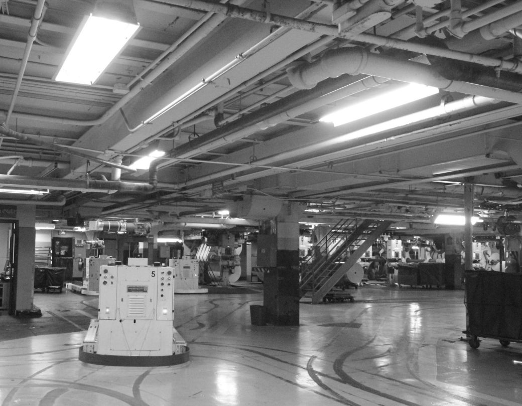 boston globe offices printing facility printing robot
