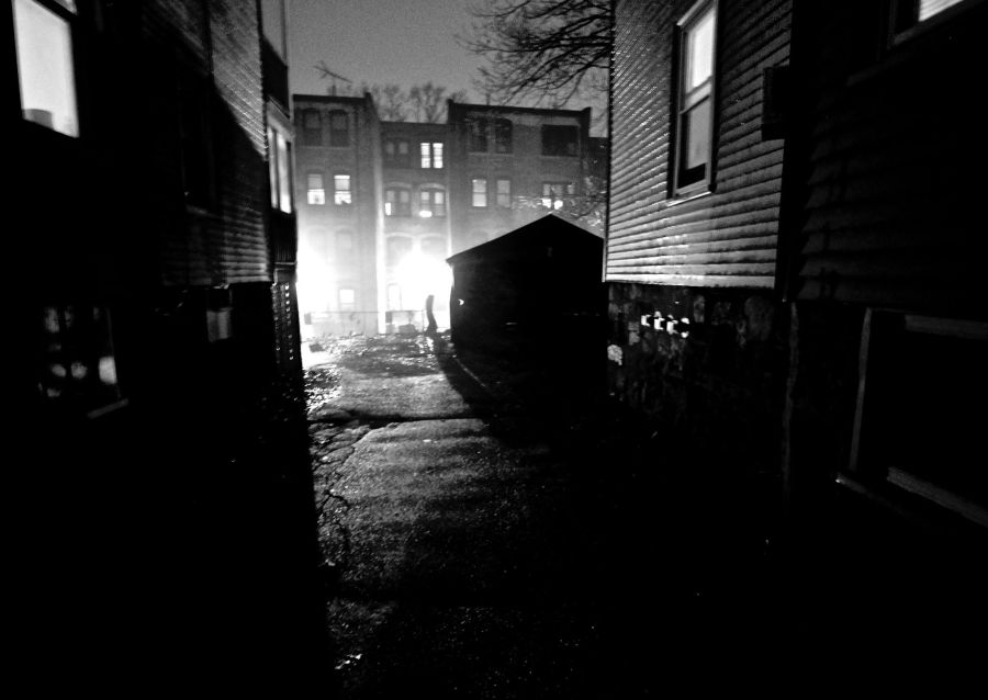 boston allston kelton street rain night 2